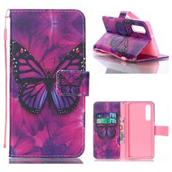 Black Butterfly Leather Wallet Phone Case for Huawei P30