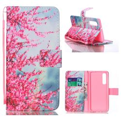 Plum Flower Leather Wallet Phone Case for Huawei P30