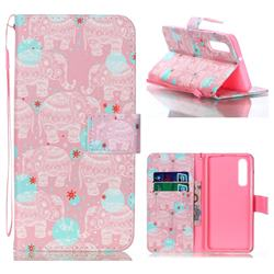 Pink Elephant Leather Wallet Phone Case for Huawei P30