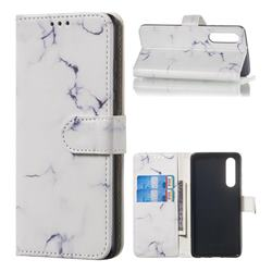Soft White Marble PU Leather Wallet Case for Huawei P30
