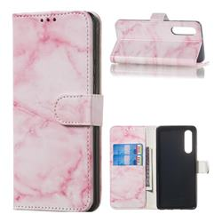 Pink Marble PU Leather Wallet Case for Huawei P30