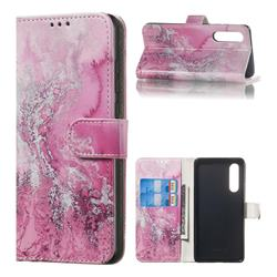 Pink Seawater PU Leather Wallet Case for Huawei P30