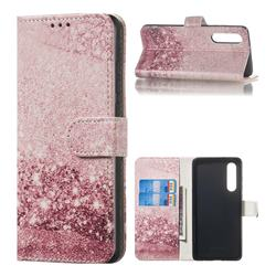 Glittering Rose Gold PU Leather Wallet Case for Huawei P30