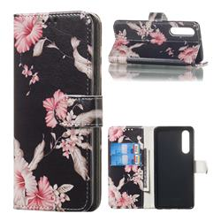 Azalea Flower PU Leather Wallet Case for Huawei P30