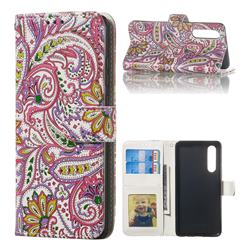 Pepper Flowers 3D Relief Oil PU Leather Wallet Case for Huawei P30