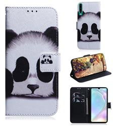 Sleeping Panda PU Leather Wallet Case for Huawei P30