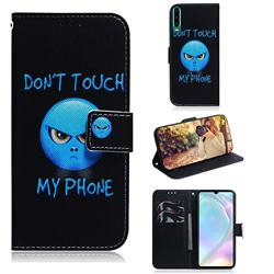 Not Touch My Phone PU Leather Wallet Case for Huawei P30