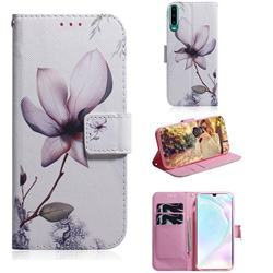 Magnolia Flower PU Leather Wallet Case for Huawei P30