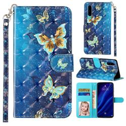 Rankine Butterfly 3D Leather Phone Holster Wallet Case for Huawei P30