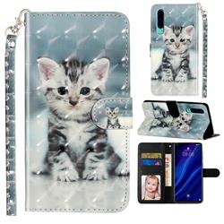 Kitten Cat 3D Leather Phone Holster Wallet Case for Huawei P30