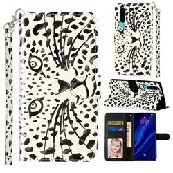 Leopard Panther 3D Leather Phone Holster Wallet Case for Huawei P30