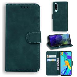 Retro Classic Skin Feel Leather Wallet Phone Case for Huawei P30 - Green