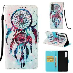 ColorDrops Wind Chimes 3D Painted Leather Wallet Case for Huawei P30