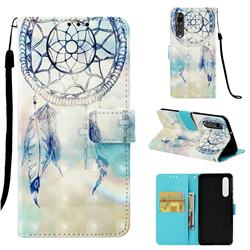 Fantasy Campanula 3D Painted Leather Wallet Case for Huawei P30