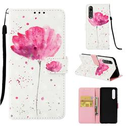Watercolor 3D Painted Leather Wallet Case for Huawei P30