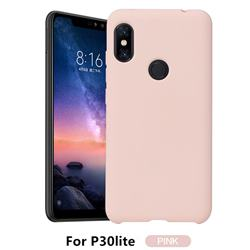Howmak Slim Liquid Silicone Rubber Shockproof Phone Case Cover for Huawei P30 Lite - Pink