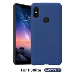 Howmak Slim Liquid Silicone Rubber Shockproof Phone Case Cover for Huawei P30 Lite - Midnight Blue