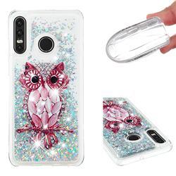 Seashell Owl Dynamic Liquid Glitter Quicksand Soft TPU Case for Huawei P30 Lite