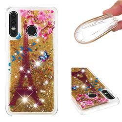 Golden Tower Dynamic Liquid Glitter Quicksand Soft TPU Case for Huawei P30 Lite