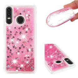 Dynamic Liquid Glitter Quicksand Sequins TPU Phone Case for Huawei P30 Lite - Rose