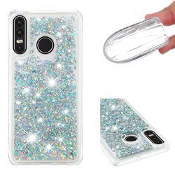 Dynamic Liquid Glitter Quicksand Sequins TPU Phone Case for Huawei P30 Lite - Silver