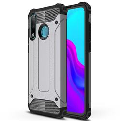 King Kong Armor Premium Shockproof Dual Layer Rugged Hard Cover for Huawei P30 Lite - Silver Grey