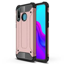 King Kong Armor Premium Shockproof Dual Layer Rugged Hard Cover for Huawei P30 Lite - Rose Gold