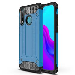 King Kong Armor Premium Shockproof Dual Layer Rugged Hard Cover for Huawei P30 Lite - Sky Blue