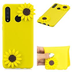 Yellow Sunflower Soft 3D Silicone Case for Huawei P30 Lite
