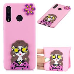 Violet Girl Soft 3D Silicone Case for Huawei P30 Lite