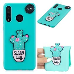 Cactus Flower Soft 3D Silicone Case for Huawei P30 Lite