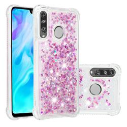 Dynamic Liquid Glitter Sand Quicksand Star TPU Case for Huawei P30 Lite - Rose