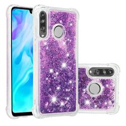 Dynamic Liquid Glitter Sand Quicksand Star TPU Case for Huawei P30 Lite - Purple