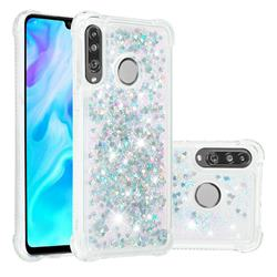 Dynamic Liquid Glitter Sand Quicksand Star TPU Case for Huawei P30 Lite - Silver
