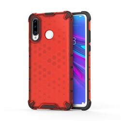 Honeycomb TPU + PC Hybrid Armor Shockproof Case Cover for Huawei P30 Lite - Red