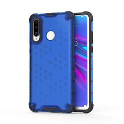 Honeycomb TPU + PC Hybrid Armor Shockproof Case Cover for Huawei P30 Lite - Blue