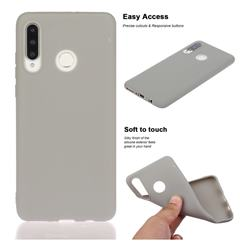 Soft Matte Silicone Phone Cover for Huawei P30 Lite - Gray