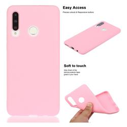 Soft Matte Silicone Phone Cover for Huawei P30 Lite - Rose Red