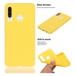 Soft Matte Silicone Phone Cover for Huawei P30 Lite - Yellow