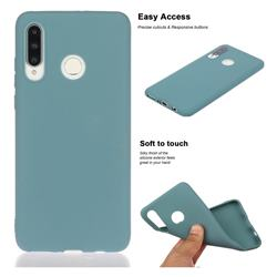 Soft Matte Silicone Phone Cover for Huawei P30 Lite - Lake Blue