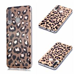 Leopard Galvanized Rose Gold Marble Phone Back Cover for Huawei P30 Lite