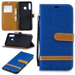Jeans Cowboy Denim Leather Wallet Case for Huawei P30 Lite - Sapphire