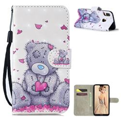 Love Panda 3D Painted Leather Wallet Phone Case for Huawei P30 Lite