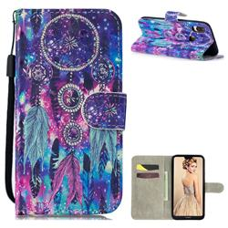 Star Wind Chimes 3D Painted Leather Wallet Phone Case for Huawei P30 Lite