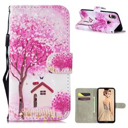 Tree House 3D Painted Leather Wallet Phone Case for Huawei P30 Lite