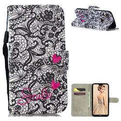 Lace Flower 3D Painted Leather Wallet Phone Case for Huawei P30 Lite