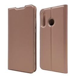 Ultra Slim Card Magnetic Automatic Suction Leather Wallet Case for Huawei P30 Lite - Rose Gold
