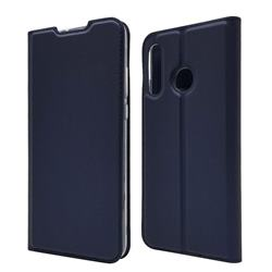 Ultra Slim Card Magnetic Automatic Suction Leather Wallet Case for Huawei P30 Lite - Royal Blue