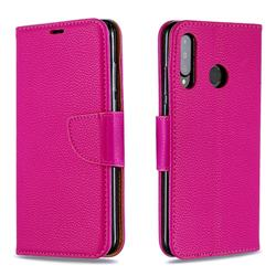 Classic Luxury Litchi Leather Phone Wallet Case for Huawei P30 Lite - Rose