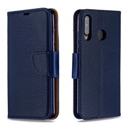 Classic Luxury Litchi Leather Phone Wallet Case for Huawei P30 Lite - Blue